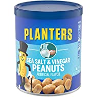 Planters Salt & Vinegar Peanuts (6 oz Canister, Pack of 8)