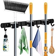 Goowin Broom Holder, Broom And Mop Holder Wall Mounted, Heavy Duty Stainless Steel Mop And Broom Holder Wall M