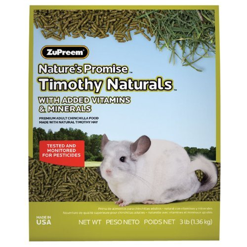 ZUPREEM Nature's Promise Timothy Naturals Chinchilla Food, 3 (Timothy Complete Chinchilla Food)