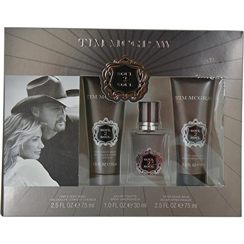 MCGRAW SOUL 2 SOUL by Tim McGraw EDT SPRAY 1 OZ & AFTERSHAVE BALM 2.5 OZ & HA... (Package of 4 ) -  frag250846,new+4