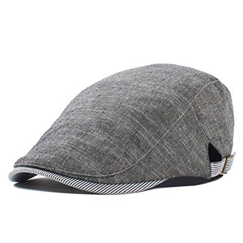 (Thenice Men's Gatsby Flat Cap Newsboy Ivy Hunting Cabbie Driver Hat (Dark Grey))