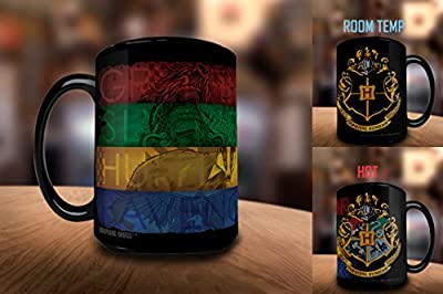 Morphing Mugs Harry Potter Hogwarts Magical Marauder's Map Heat Reveal Ceramic Coffee Mug - 11 Ounce