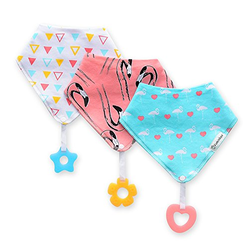 Baby/Toddler Bandana Teething Bibs 3-pack ,Made with 100% Organic Cotton, Super Absorbent and Soft (Unisex)