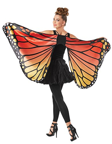 Monarch Butterfly Costume Adult - Seasons Adult Monarch Butterfly Cape Wings,