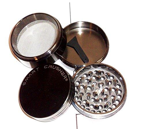 SMART CRUSHER 4 Piece Tobacco Spice Herb Pollen Grinder - Dark Gun Metal (Smart Crusher Grinder compare prices)