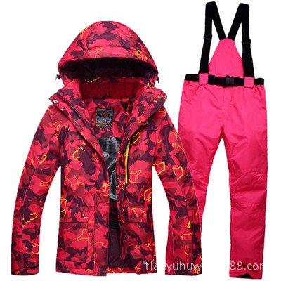 Jacket Women Coat JACKETS FYM Suit Ski Zipper Windproof Men Warm Pants DYF Pink Orange Waterproof CaYxqZ