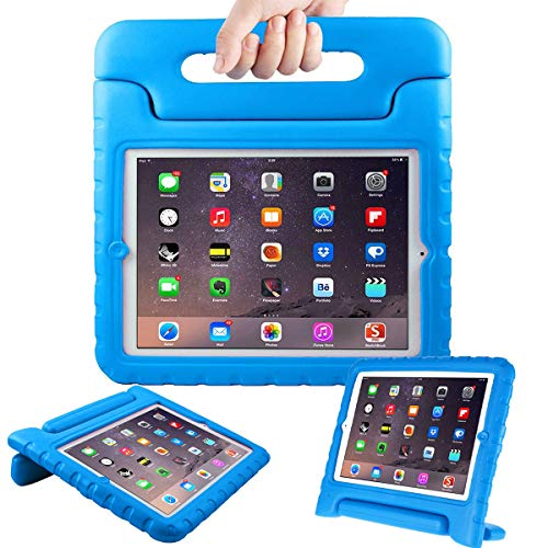 AVAWO Kids Case for Apple iPad 2 3 4 - Light Weight Shock Proof Convertible Handle Stand Kids Friendly for iPad 2, iPad 3rd Generation, iPad 4th Generation Tablet - Blue (Best Kid Proof Ipad Case)