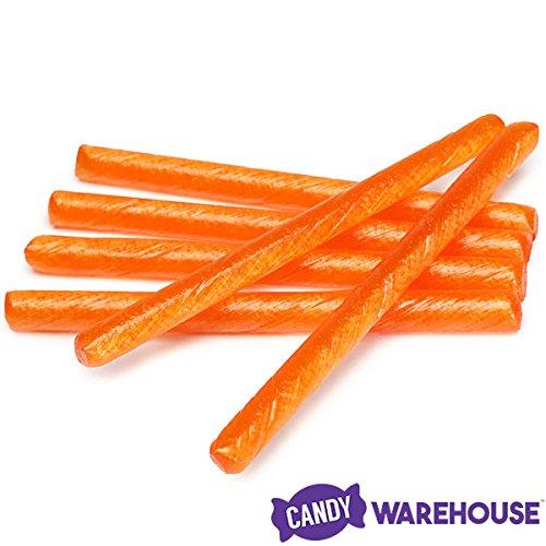 Old Fashioned Hard Candy Sticks - Sour Orange: 80-Piece - Covered Jelly Orange Chocolate