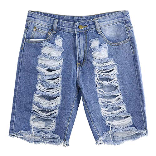 Trou Slim Femme Bleu Sexy Denim Short lav conqueror Jean Mini Pantalon Trou Court wfXqqZa