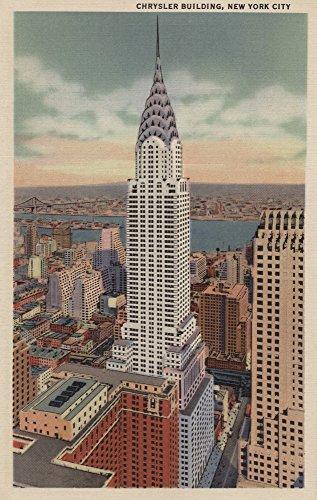 New York, NY - Chrysler Building, 405 Lexington Avenue (9x12 Art Print, Wall Decor Travel Poster)