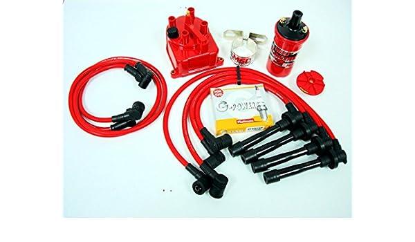 1994 - 2000 Honda Civic Si B16 MSD Bobina cables conectores distribuidor Cap Kit: Amazon.es: Coche y moto