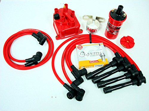 Honda Prelude Oem Ignition Coil - VMS RACING 92-01 HONDA PRELUDE H22 MSD COIL WIRES NGK PLUGS DISTRIBUTOR CAP KIT