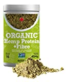 Organic NATERA Hemp Protein Powder + Fibre (1lbs), Natural Protein Vegan Friendly