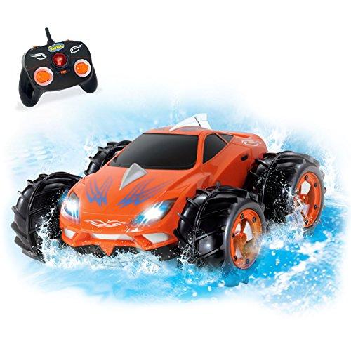KidiRace Amphibious Remote Control Car - Orange - 360 Degree Spin Aqua Stunt RC Car