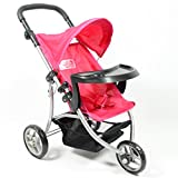 : Baby Doll Jogging Stroller with Adjustable Handle for Ages 2+