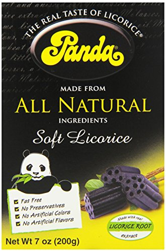 Panda All Natural Licorice Chews, 7 Ounce Boxes (Pack of 12) by Panda