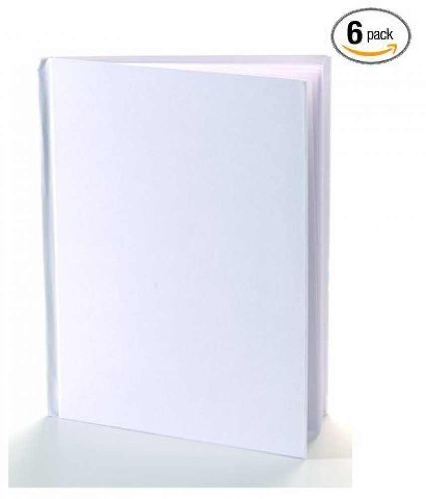 """Amazon.com: White Blank Books with Hardcovers 8.5""""W x 11""""H (6 Books /  Pack): Toys & Games"""