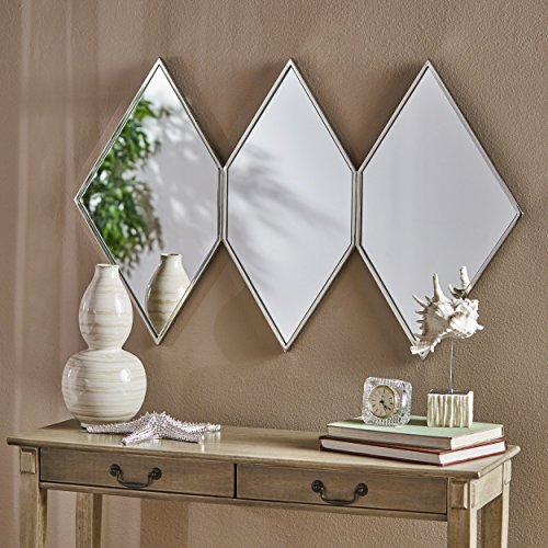 (Christopher Knight Home 303532 Mariel Wall Mirror Clear/Stainless)