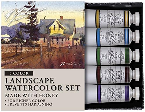 (M. Graham Tube Watercolor Paint Landscape 5-Color Set, 1/2-Ounce)