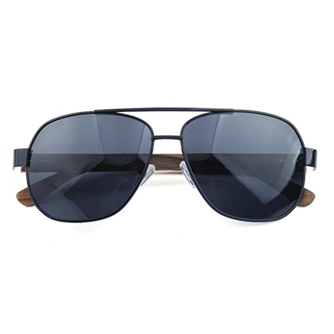 Retro Madera Metal Marco Grande Gafas De Sol Polarizadas 7 ...