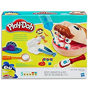 Play-Doh - Doctor Drill 'n Fill Set inc 5 Tubs of Dough & Accessories - Creative Kids Toys - Ages 2+