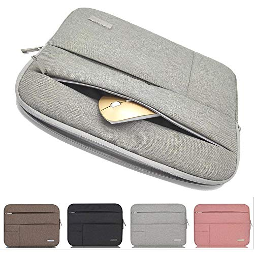 - Pearlshop Laptop Sleeve Case Cover Unisex Solid Laptop Bag Notebook Bag 11.6-13.3/15-15.6/17-17.3 Inch 3 Size Can be Choose (Color : Light Grey, Size : 15-15.6 inch)