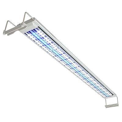 vidaXL Lampe éclairage à LED pour poisson aquarium 100-110 cm Aluminium IP67