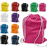 SHOPINUSA Buy Bulk ,Sport Size Drawstring Bags, Cinch Bags 3 DIFFERENT COLOR ( ASSORTED COLORS )