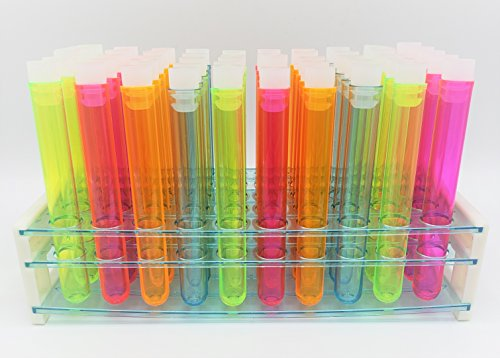 Test Tube Party Pack, 50-Hole Rack with Assorted Color 5