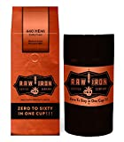 Extra Strong Ground Gourmet High Caffeine Coffee 440 Hemi High Grade Rich Bold Arabica Blend Small Batch 12oz Bag with Tight Vac Storage Container by Raw Iron Coffee Co. (440 Hemi 12oz with Canister)