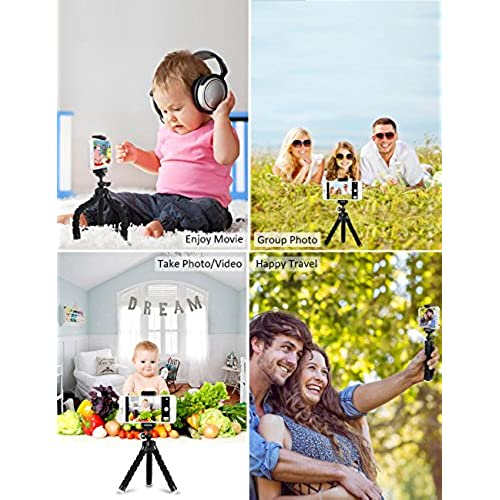 iPhone Tripod Phone Tripod UBRU Tripod for iPhone Stand with Bluetooth Remote Camera Shutter Remote Shutter Release and Universal Clip for Android iOS Smartphones Camera Sports Camera Gopro etc. Blue