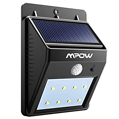 Mpow Solar Lights, 8 LED Bright Solar Powered Security Light with Motion Sensor Wireless Waterproof Wall Lights for Outdoor Driveway Patio Garden Path Yard Deck