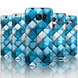 Hairyworm - (BG0032) Blue And White Triangles Sony Xperia Z2 semi flex plastic cell phone case, cover, hard plastic cell phone case, cell phone cover, cell phone back cover, cell phone protector