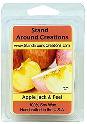 100% All Natural Soy Wax Melt Tart - Apple Jack & Peel - An irresistible scent of apples and oranges blended together with the warm aromatic spices of cinnamon, clove, nutmeg and ginger. The base is a rich long lasting vanilla. This fragrance is infused w
