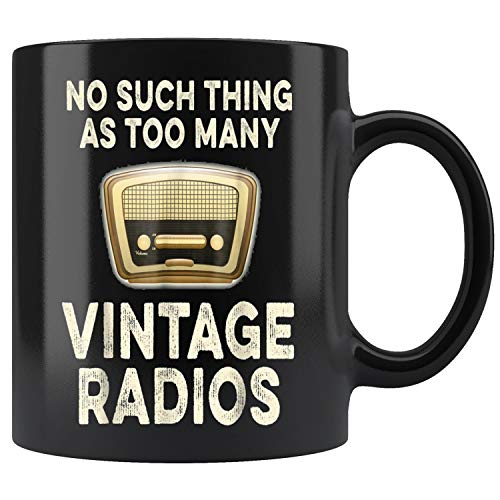 Vintage Radios Collector Mug Coffee Mug 11oz Gift Tea Cups 15oz
