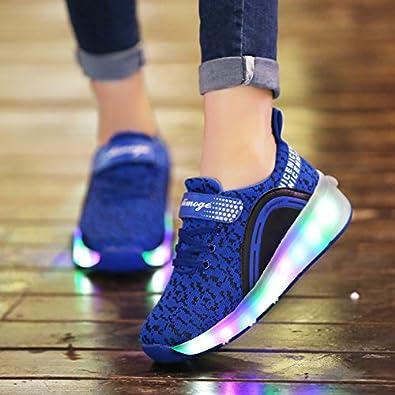 Nsasy Girls Boys Skate Roller Shoes