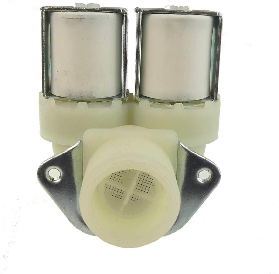 BAHome Electroválvula Doble Recta Tipo Universal para lavadoras LG ...