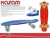 KaZAM Shortboard Skateboard with Shark Wheel