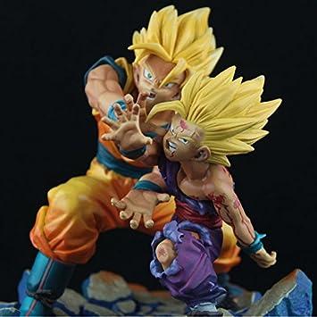 Goku VS Cell Dragonball Z Son Gohan Super Saiyan 2 Kamehameha PVC Action Figure Toys