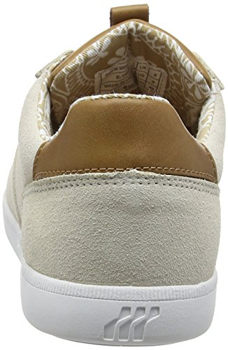 Boxfresh Herren Cladd Inc Sde/Lea Off Wht/Tan Low-Top Weiß (OFF WHITE/TAN)