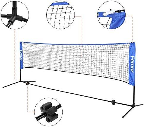 Adjustable Mini Foldable Badminton Tennis Volleyball Net SU