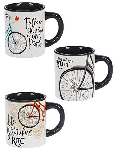 Fun Everyday Bicycle Mug, 14 oz, Choose Style, Dolomite (Blue)