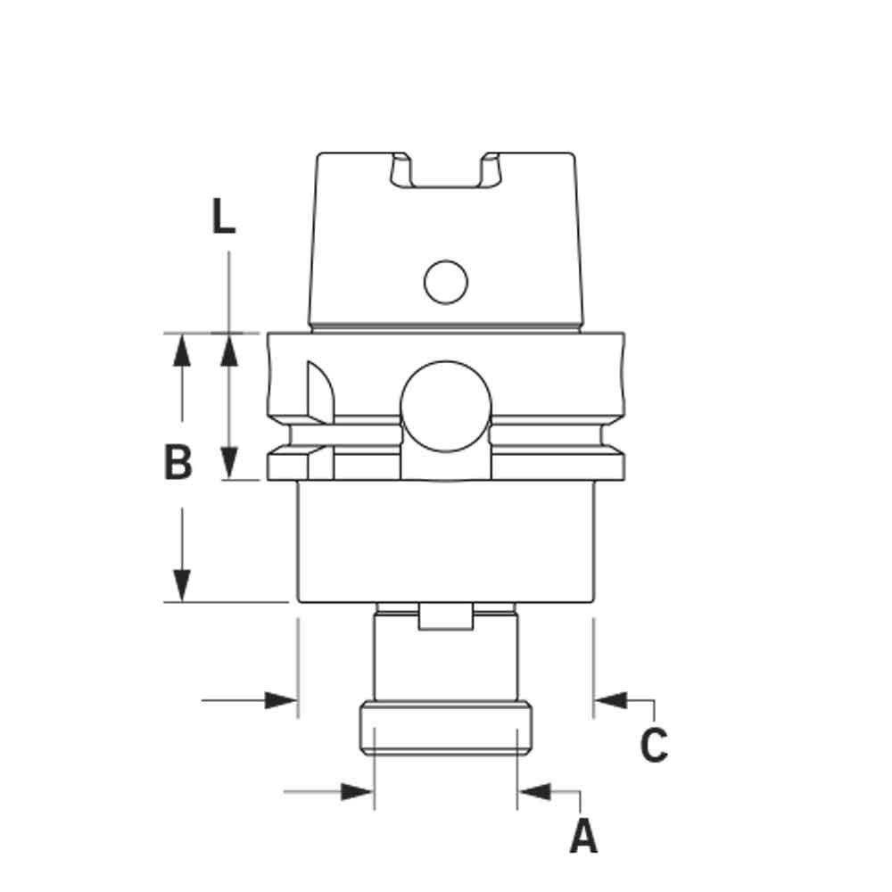 RedLine Tools RHSK63ASM0750175 .7500 HSK63A Face Mill//Shell Mill Holder