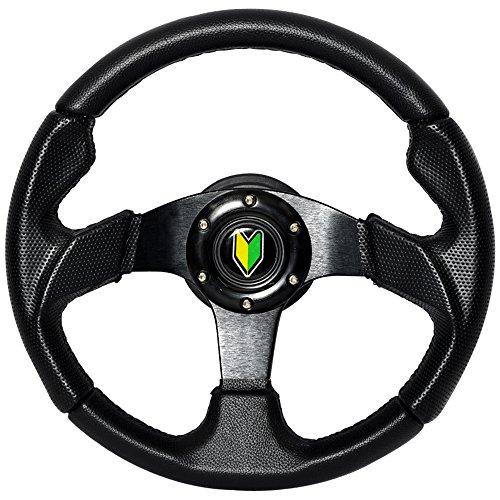 Jdm Steering Wheels (Steering Wheel Type 2 320mm Black w/Horn w/Black Stitch)