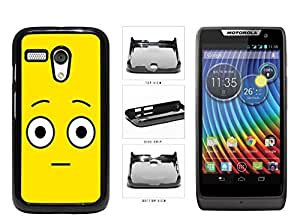 Bright Yellow Shocked Smiley Face Plastic Phone Case Back Cover Moto G