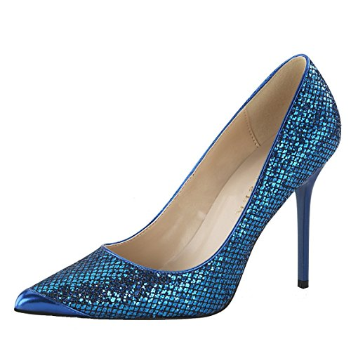 Heels-Perfect - Pantuflas de caña alta Mujer Blau (Blau)