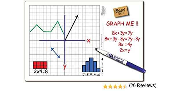 Amazon.com: 30 Student GRAPHBOARD Combo Pack Double Sided , with ...