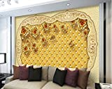 magnificent tv room accent wall Yosot Luxury Golden Rose Magnificent 3D Wallpaper Living Room Bedroom Tv Sofa Wall Wallpaper Mural for Cafe-450Cmx300Cm