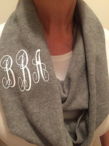 Personalized Fleece Infinity Scarf With Monogram