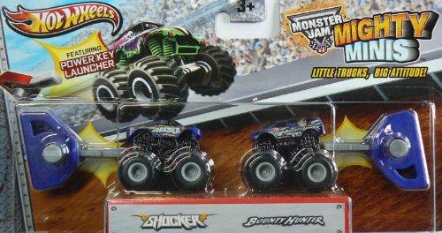 Truck Wheels Hot Mini (Hot Wheels Monster Jam Mighty Minis Shocker and Bounty Hunter)